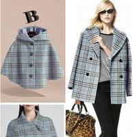 Wholesale Pink Blue Check Double Sided Wool Fabric Coat Sweater Process Tweed Fabric Fleece Plush Fabric
