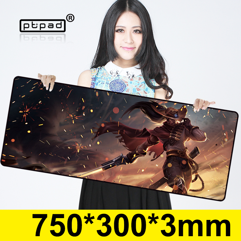Yasuo 750*300mm gaming mouse pad Rubber Computer large mouse pads Laptop Keyboard mat for League of Legends LOL free shipping image