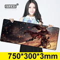 Yasuo 750*300mm gaming mouse pad Rubber Computer large mouse pads Laptop Keyboard mat for League of Legends LOL free shipping