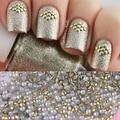 Parafuso prisioneiro de ouro pedrinhas Acrílico UV Gel Nail art Decorações para DIY 1 saco de 1.5mm