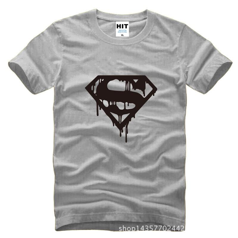 Superman Man Of Steel S Logo Printed Mens Men T Shirt T