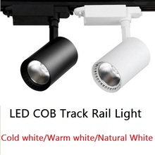 LED COB Track Rail Light AC85- 265V 12W 20W 30W  Clothing Shop Windows Showrooms Exhibition Spotlight COB LED Ceiling Light led track light track lighting cob 15w 20w 30w 36w clothing shop windows showroom exhibition spotlight ceiling rail spot lamp