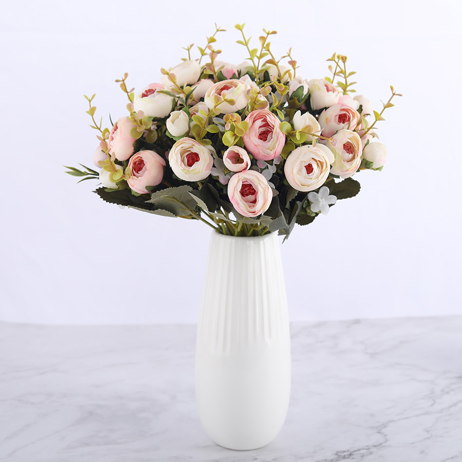 Silk DIY Daisy Camellia Artificial Flowers For Xmas Party And Wedding Decoration 3