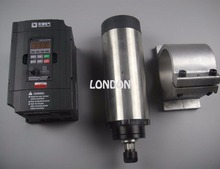 CNC spindle kit ER16 1.5KW air cooling spindle +1.5KW VFD inverter+spindle support