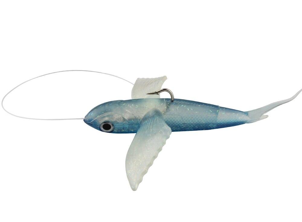 Spinpoler Deep Sea Fishing 140g Soft Plastic Fishing Lures 23cm 9inch Jig Hook Big Magic Soft Flying Fish Soft Fishing Lure  (12)