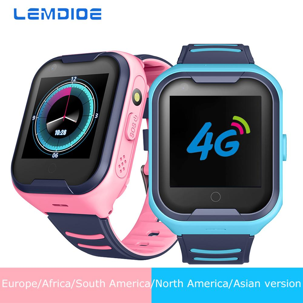 LEMDIOE 2019 4G Smart Watch Kids Android 4 4 WiFi Touch Screen Camera GPS tracking SOS