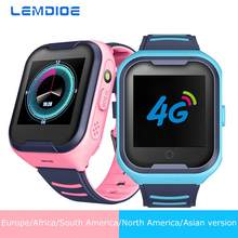 LEMDIOE 2019 4G Smart Watch Kids Android 4.4 WiFi Touch Screen Camera GPS tracking SOS Call Children Watch(China)