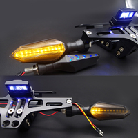 turn signal light CNC Motorcycle License Plate Holder For YAMAHA tmax 530 2017 mt 07 2018 aerox t max 500 yzf r6 mt 09 Covers