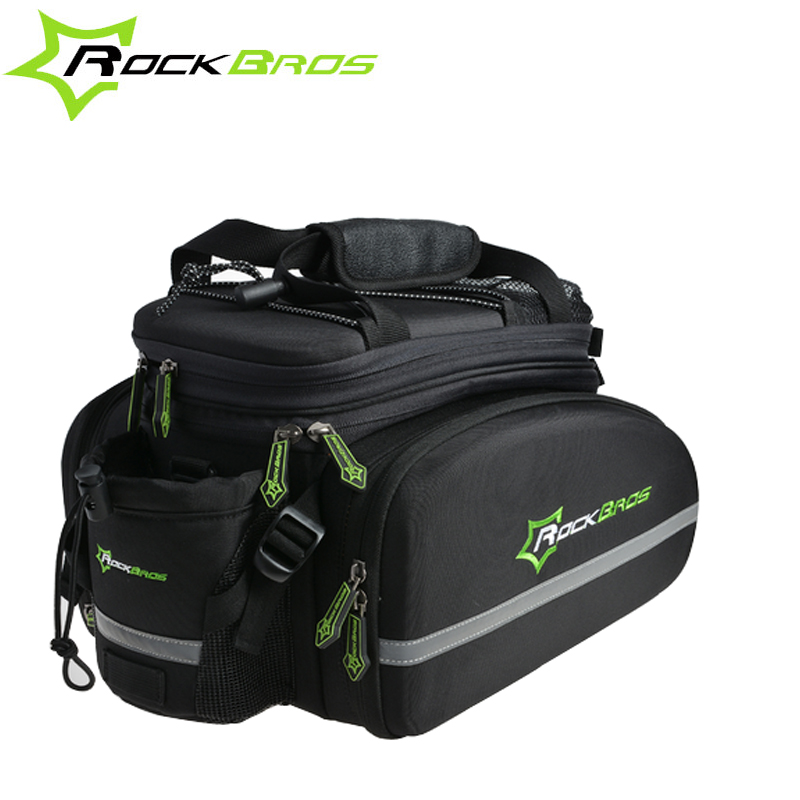 RockBros Rainproof Cycling for Bicycle Bike Rear Seat Trunk Bag 3 Colors Cycling Rear Seat Luggage Carrier Rear Bag 35 rockbros large capacity bicycle camera bag rainproof cycling mtb mountain road bike rear seat travel rack bag bag accessories