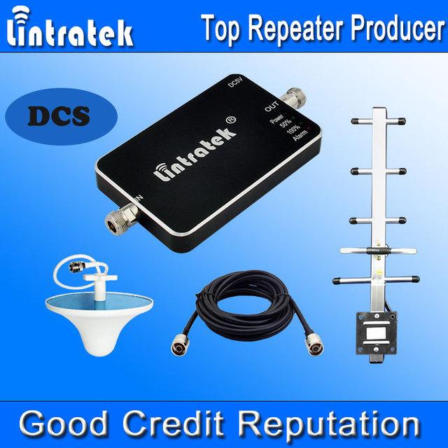 DCS repetidor 1800 Tamanho Mini Sinal de Reforço de Sinal GSM 1800 MHz Ganho de 65dB Celular LED Repetidor Yagi Antenas Kits Completos F12