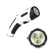 Multifunções LEVOU Luz Infravermelha Do Laser Lanterna Recarga Mão USB Portátil Banco de Potência do Flash de Luz Rádio FM