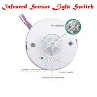 New 360 Detectors 220V PIR Motion Sensor Switch Passive Infrared Detector High Sensitivety Infrared Sensor Light