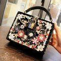New Arrival 2017 Women Diamond Evening Bag Vintage Handbag Velvet Messenger Bag Fashion Colorful Handbags