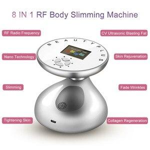 Image 4 - RF Cavitation קולי הרזיה לעיסוי מקומי מבער שמנים אנטי צלוליט מכשיר הידוק עור ירידה במשקל יופי מכונת