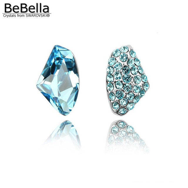 Bebella 3 Colors Women Unsymmetrical Crystal Earrings Made With Swarovski Elements In Stud From Jewelry Accessories On Aliexpress