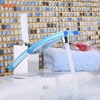 무료 배송 bakala 젊은 현대 욕실 수도꼭지 분지 믹서 황동 유리 탭 크롬 lh-8126