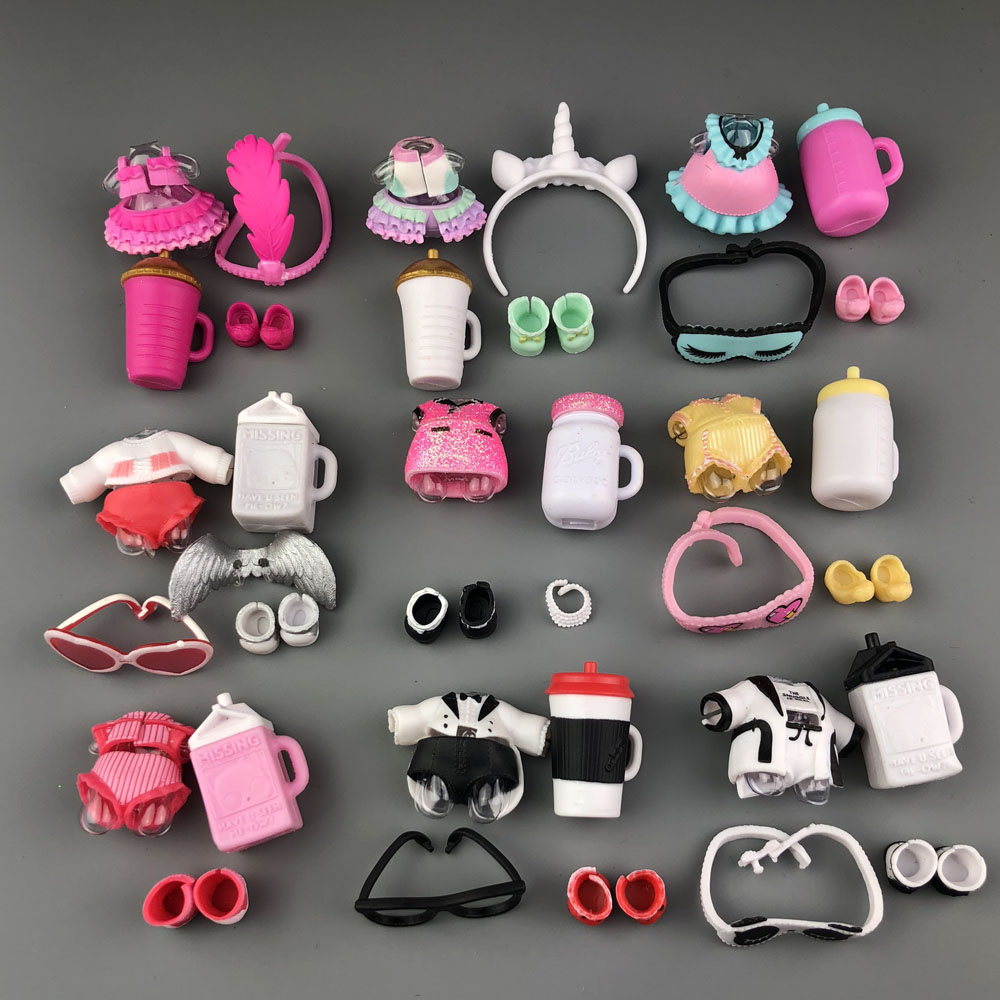 New A Set Of Original LoLs Doll Clothes, Glasses, Bottles, Shoes Accessories For LOLs Accessories Hot Sale
