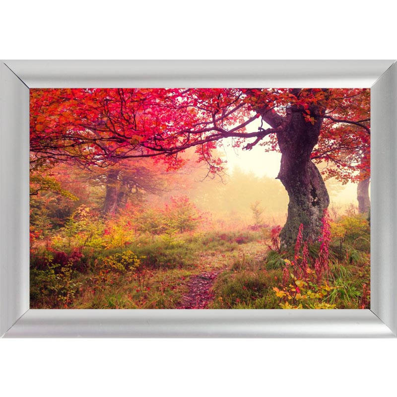 silver color aluminum alloy picture frame home decor custom canvas frame forests nature tree canvas poster