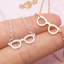 New desgin 10 PCS Geek Glasses Necklace Book Lover Gift Teen Jewelry Gold Silver minimalist fashion jewelry