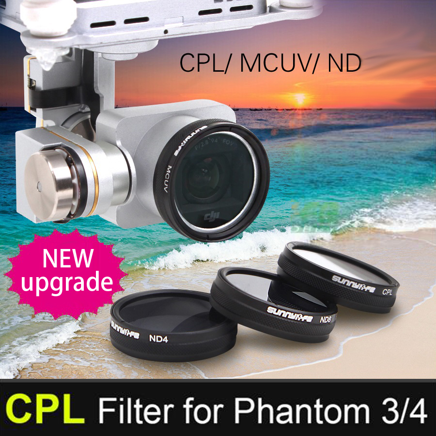 DJI Phantom 3/4 Accessory CPL Filter Circular Polarizer Filter for Phantom 4/3 Professional & Advanced & Standard free shipping
