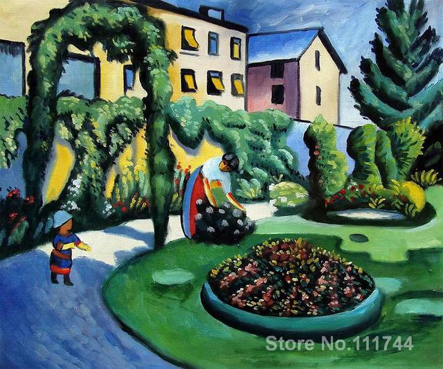 Art And Home Decor Part - 45: O Macke Do Jardim Em Bona Gartenbild August Macke Art Home Decor Qualidade  Pinturas Pintados à