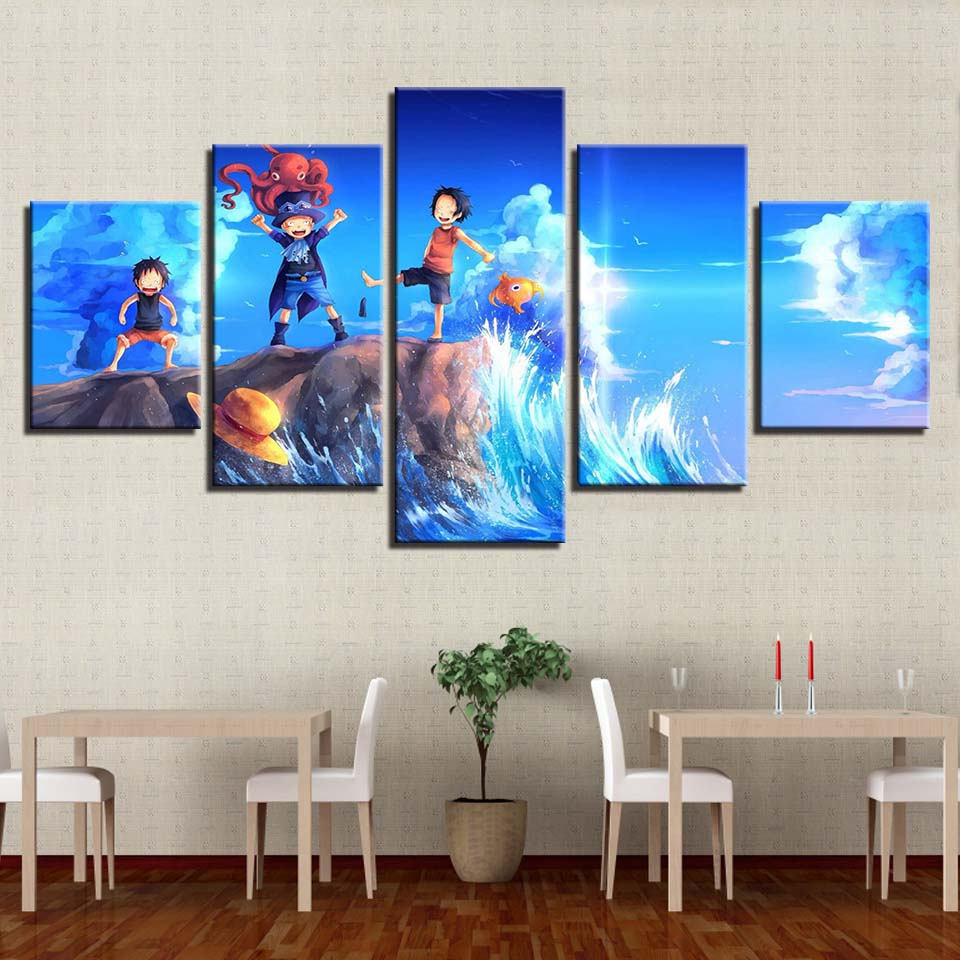 Canvas HD Printed Modern Wall Art Pictures Frame Room Home Decor 5 ...