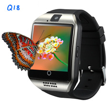 Smart Watch Q18 Bluetooth Watch With Camera Facebookes Twitter Smartwatch Support Sim TF Card For Apple ios Android Phone