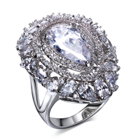 Lan Palace Boutique Engagement Womens Rings AAA Cubic Zirconia Wedding Jewelry Gold Plated Love Ring Six