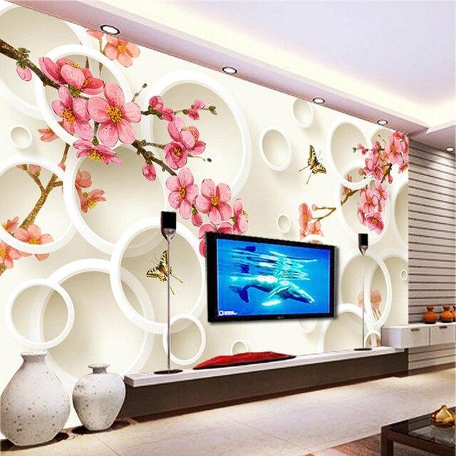 Fashion Interior Flower Design 3D Stereo Mural Photo Wallpaper Custom  Living Room Bedroom Backdrop Wall Paper
