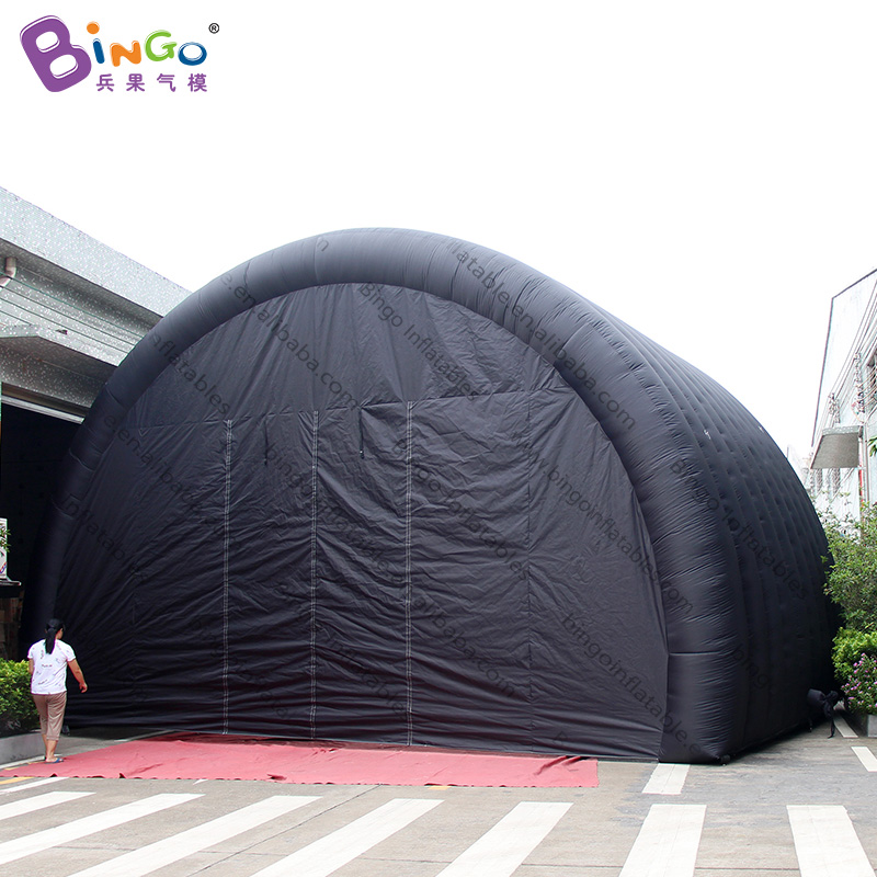 Dutiful Personalized 9.2x6x5.6 Meters Large Black Inflatable Tunnel Tent / Black Inflatable Stage Cover Toy Tents Superior Performance