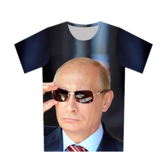 294161043 Sondirane New Funny Fashion T-Shirt Putin 3D Print Thug Life Mens Summer  Tees Short Sleeve Hip Hop Tops Casual T Shirt Clothing