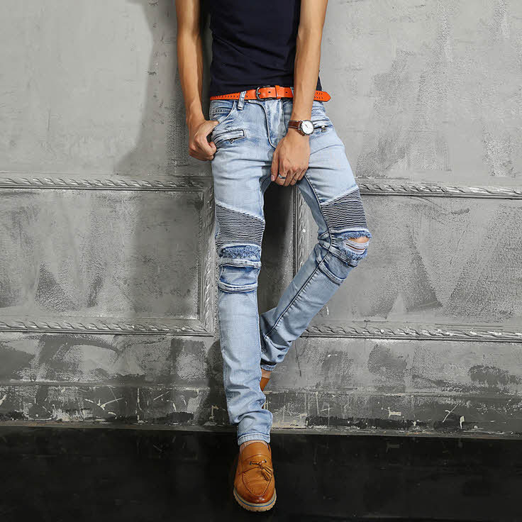 Mens ripped jeans on sale – Global fashion jeans collection