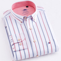 Classic Refreshing Style 2018 Men S Shirt Striped Long Sleeve 100 Cotton Breathable Brand Shirts Slim