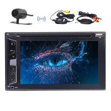 Wireless Camera+EinCar Bluetooth Car Stereo Audio 2 DIN In Dash FM AM Radio Receiver MP3 Radio DVD CD Player Remote Subwoofer