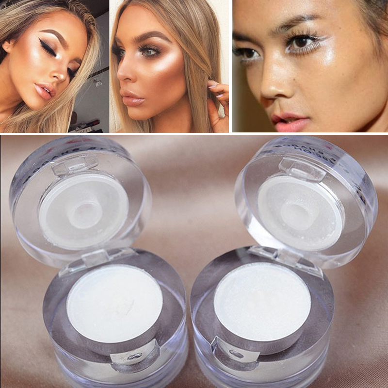 2019 Professional 2 In 1 White Single Eyeshadow Waterproof Long Lasting Shimmer Face Highlighter Contour Makeup Cosmetics