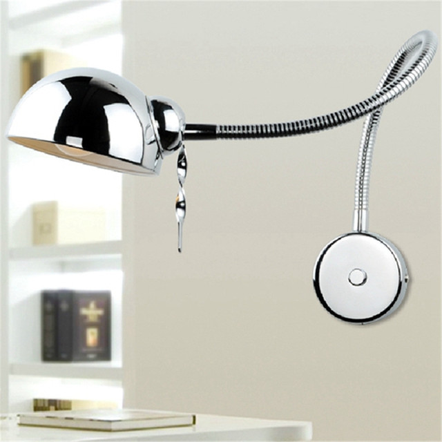 Modern Led Swing Arm Wall Mounted Wall Lamp Flexible Tube Office