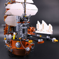 2791pcs MetalBeard Sea Cow Blocks The Legoe Movie Cruiser Building Blocks Goblin Engineering Ship Model Figure Toy