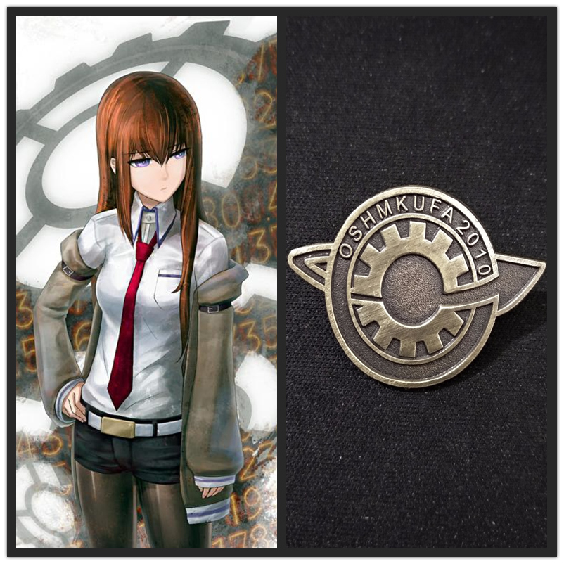 Anime Steins Gate Makise Kurisu Labmen Cosplay The Fate Of The Stone Door Badges Cosplay Props Accessories Brooch Pin