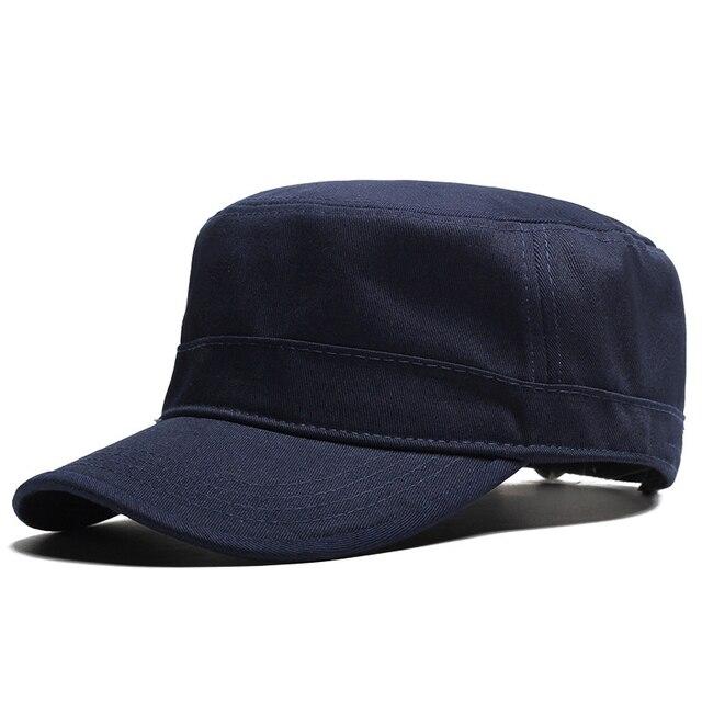 Muchique Fkat Top Cap Military Style Cap Autumn Man Hat Black Army  CapTrucker Caps Dad Hats Casual Hat One Size Fits Most 571031 416b3812c93