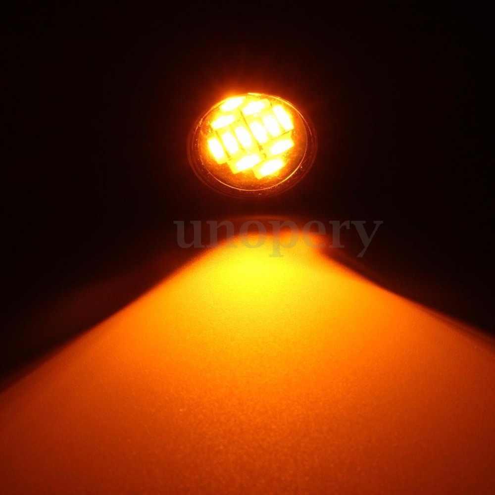2X23 Mm Motor 12 SMD LED Eagle Mata Siang Hari Lari Rem Lampu Lampu Bohlam DRL Amber Kuning