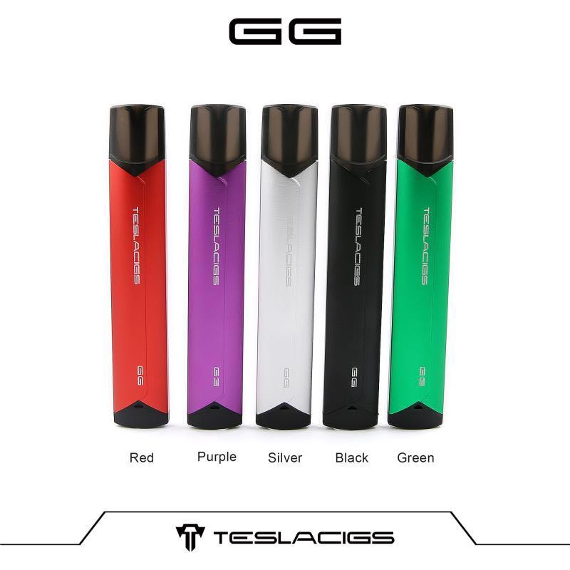 Original Tesla GG Vaping Mod E Cigarette Bluetooth Pod Kit 380mAh Battery 2ml Cartridge Teslacigs Electronic Cigarette Vaporizer цены онлайн