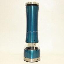 Нержавеющая сталь Электрический синий мельница для перца
