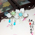 Ручной Двойной сталкиваются Волосы Палку Старинные Китайские Волосы Ювелирные Изделия кисточкой волосы придерживаться невесты свадьба hanfu костюм аксессуар