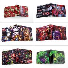 Marvel Avengers: Infinity War Iron Man Spider-Man Thanos Thor Pu Short wallet Bi