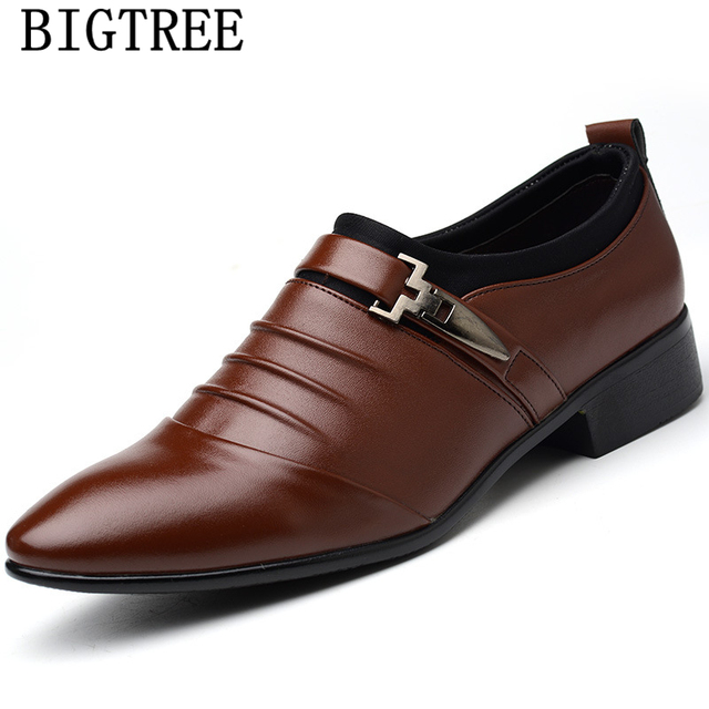 Italian Fashion Elegant Oxford Shoes For Mens Shoes Large Sizes Men Formal Shoes Leather Men Dress Loafers Man Slip On Masculino 4
