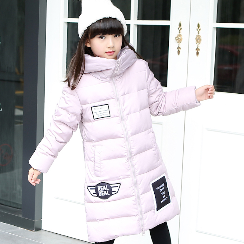 ФОТО 2016 new children down jackets long female girl Korean detachable girls down jacket thickness coat outer wear parka overcoat