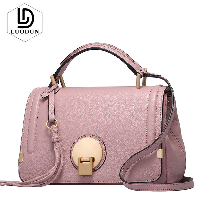 LUODUN Lady New spring and summer Genuine leather handbags first layer of cowhide bag camera bag shoulder portable Messenger bag цена