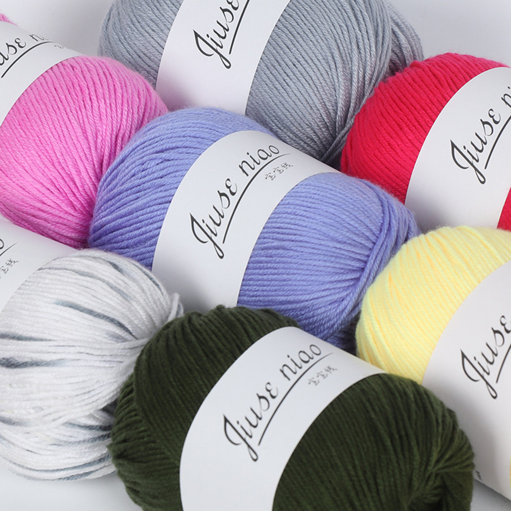 1PC 50g Chunky Colorful Hand Knitting Baby Milk Cotton Crochet Knitwear Wool for Knitting Children Hand Knitted Yarn Knit new