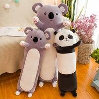 Candice guo plush toy stuffed doll cartoon animal long body panda koala sofa sleeping pillow cushion birthday gift present 1pc