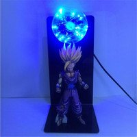 Newest Dragon Goku Ball Z Super Saiyan Son Goku Colorful Night Lamp Home Table Decoration Panel DBZ Lamp For Led Gift